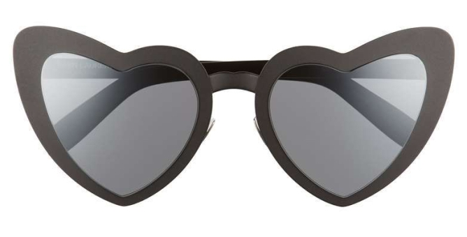 LouLou 55mm Heart Shaped Sunglasses  SAINT LAURENT